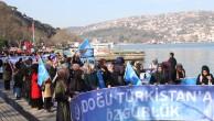 İŞGALCI ÇİN ,İSTANBUL KONSOLOSLUĞU ÖNÜNDE PROTESTO EDİLDİ