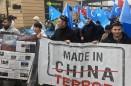 ÇİN'İN  DOĞU TÜRKİSTAN'DAKİ ZULÜM VE SOYKIRIM  CİNAYETLERİ BRÜKSEL'DE PROTESTO EDİLDİ