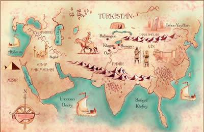 İpek yolu Haritası