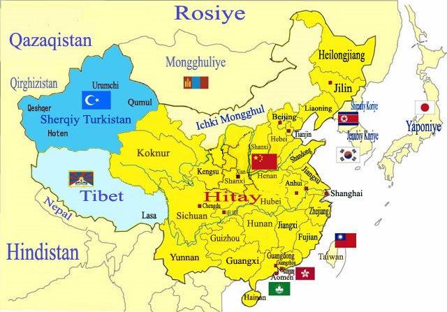 D.T.-Çin Japon Haritası