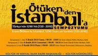 """İSTANBUL'DA """" ÖTÜKEN'DEN- İSTANBUL'A  1290. YILINDA TÜRKÇE""""  SEMPOZYUMU …"""